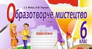 Підручники для школи Образотворче мистецтво  6 клас           - Федун С. І.