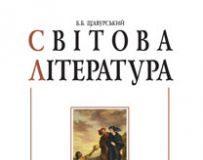 Підручники для школи Світова література  8 клас           - Щуравський Б.Б.