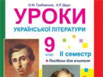 Підручники для школи Українська література  9 клас           - Грабовська О.М.