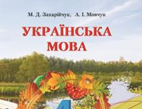 Підручники для школи Українська мова  4 клас           - Захарійчук М. Д.
